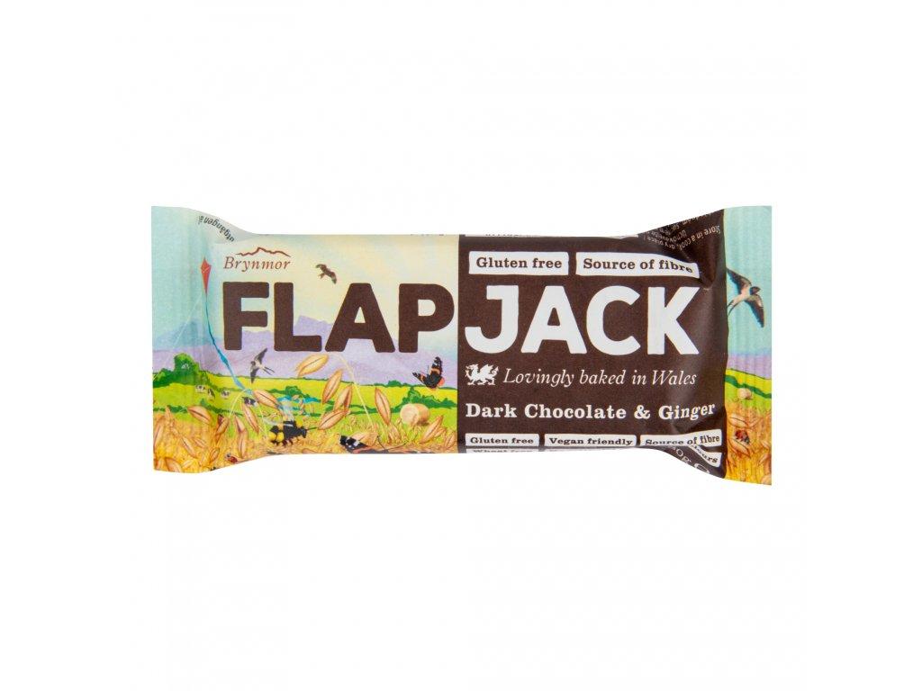 Flapjack ovesný čokoláda se zázvorem bezlepkový 80 g WHOLEBAKE