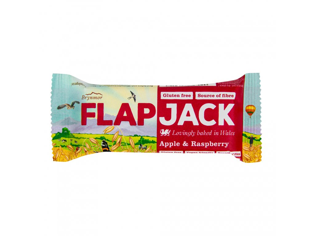 Flapjack ovesný malina-jablečná šťáva bezlepkový 80 g WHOLEBAKE
