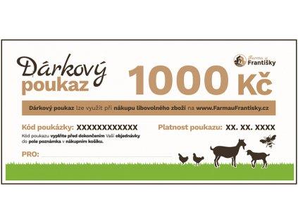 Dárkový voucher 1 000 Kč