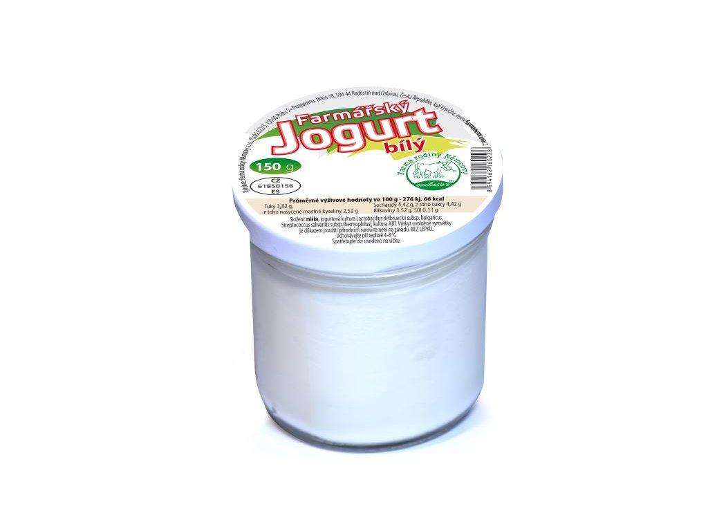 farmarsky jogurt bily domaci 150g