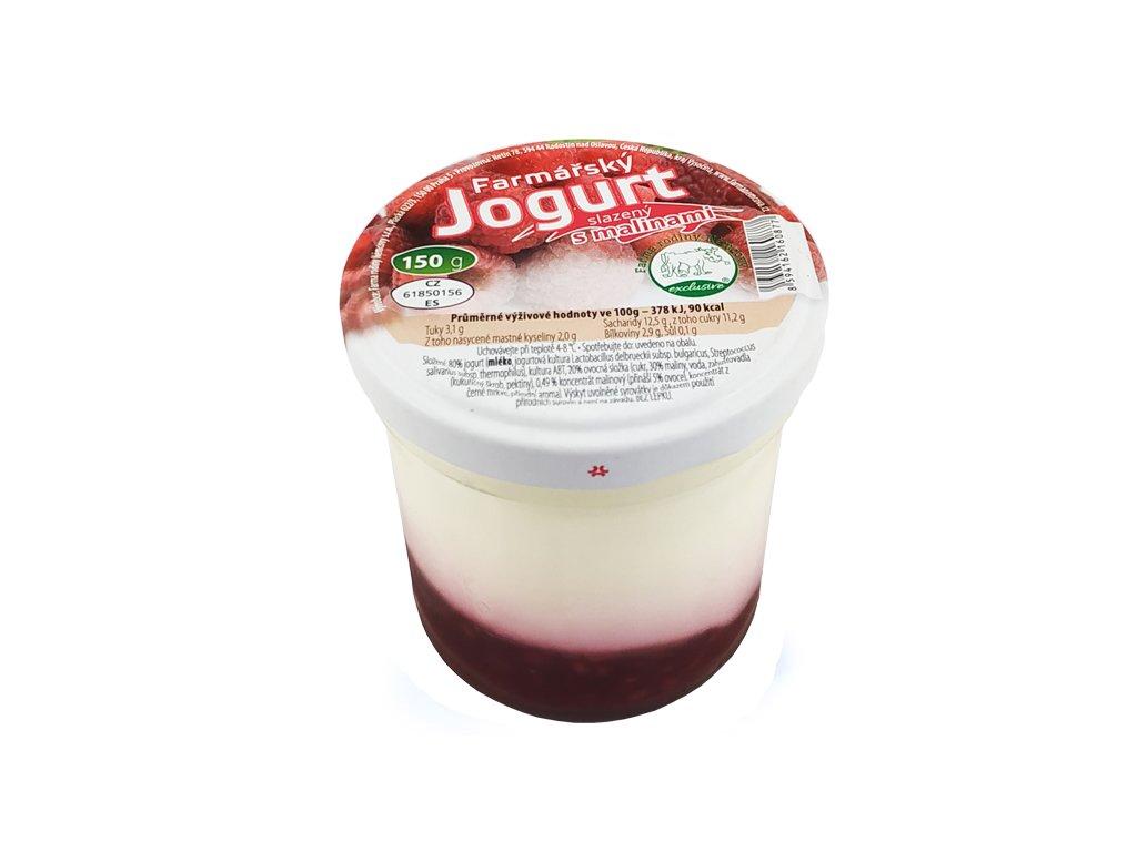 farmarsky jogurt s malinami