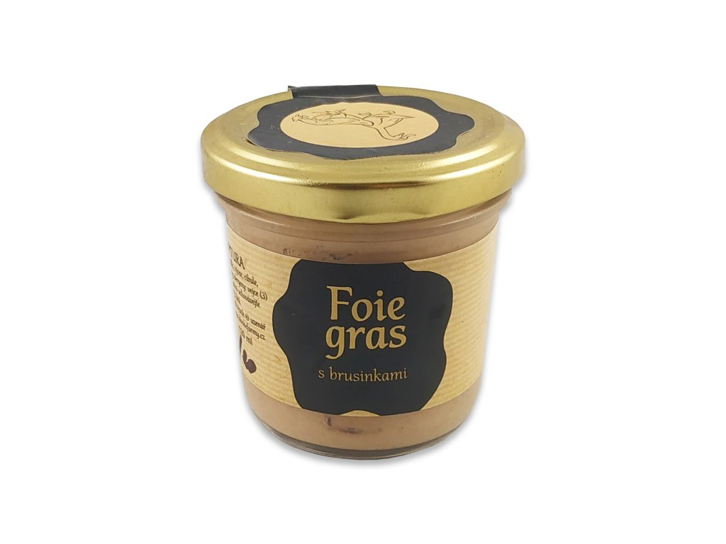 foie gras s brusinkami