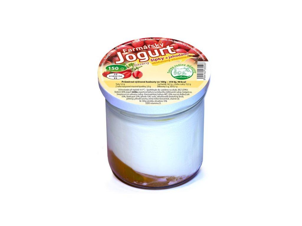 farmarsky jogurt s sipky jahodami a vit d 150 g