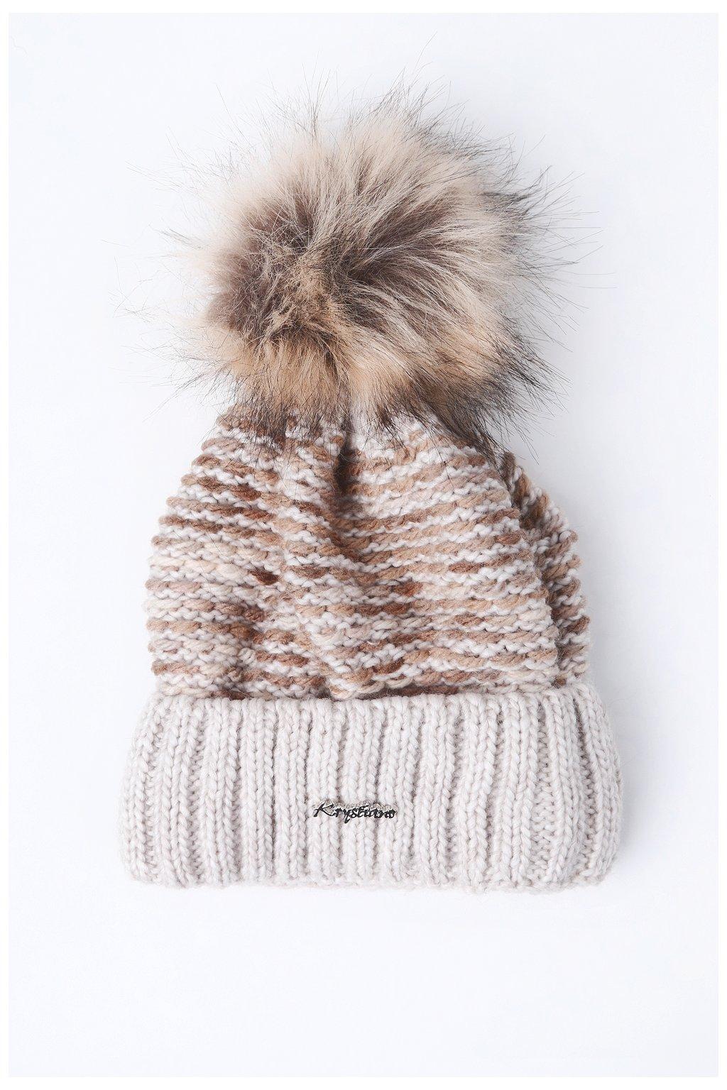Béžová zimní čepice Fasardi