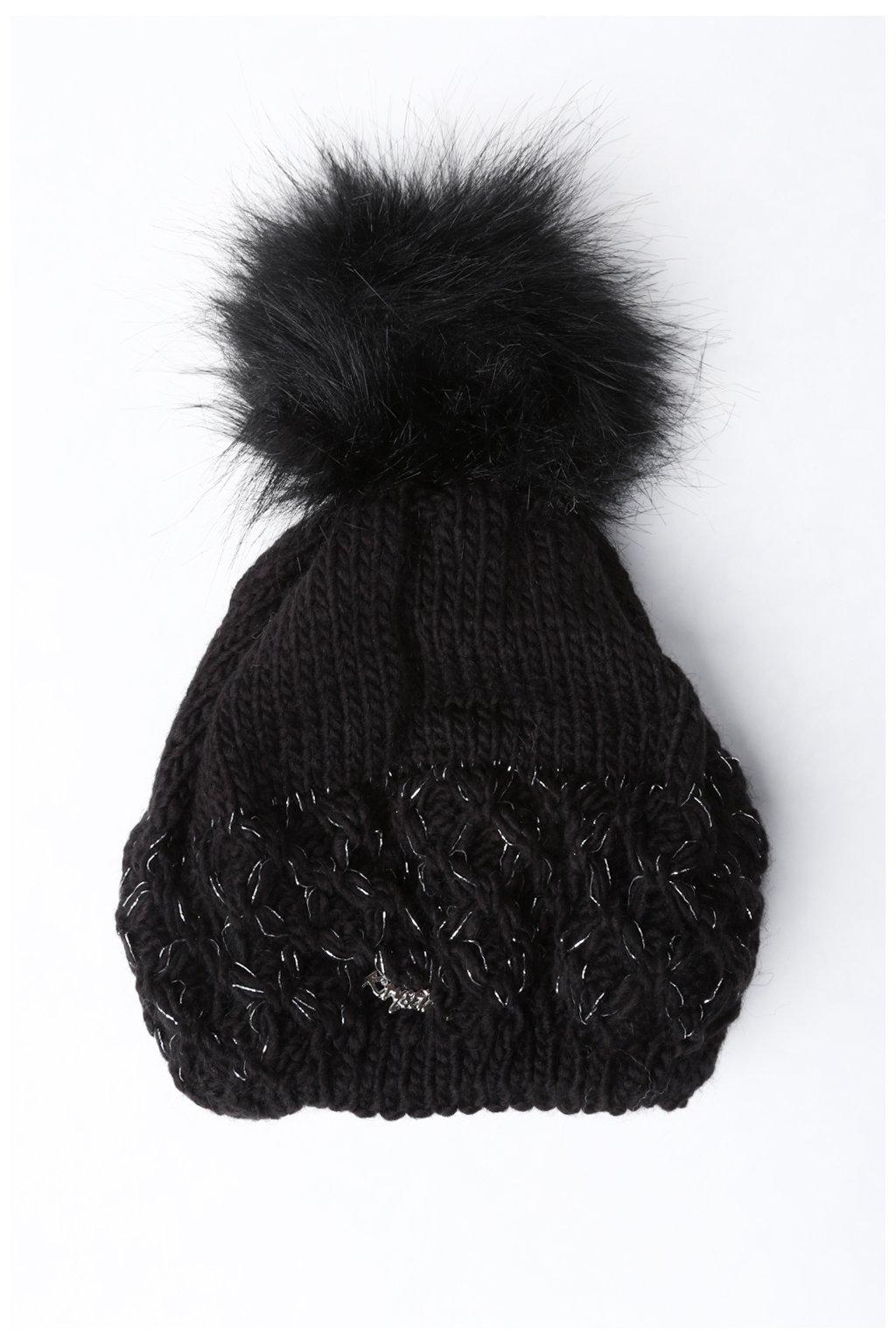 Černá čepice Fasardi
