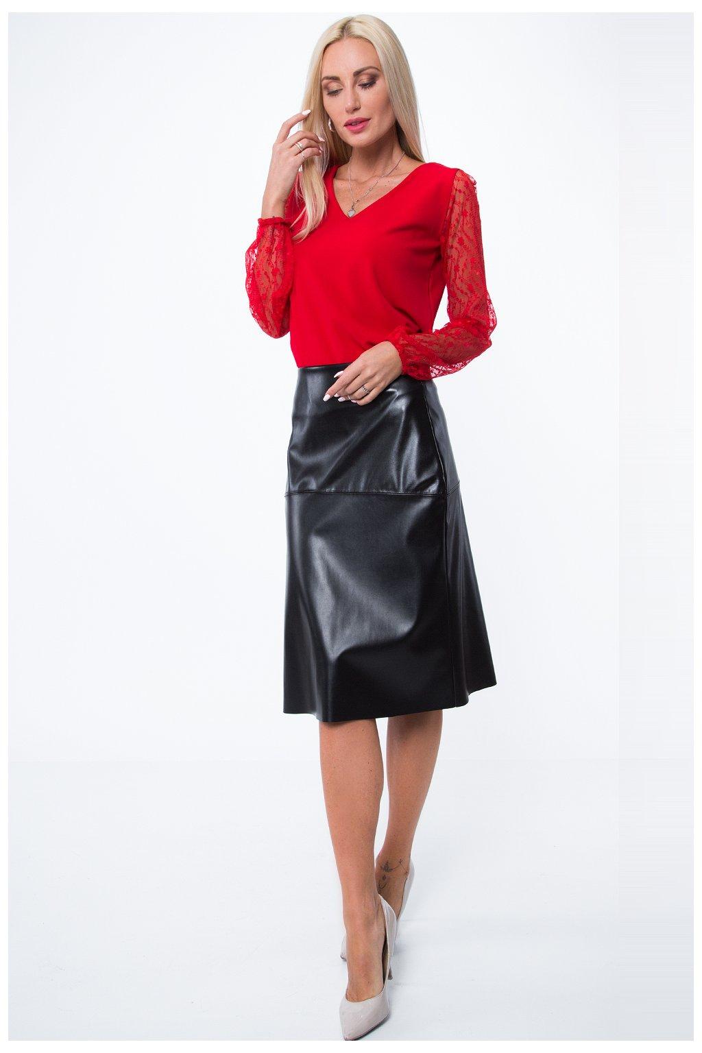 Černá kožená sukně Fasardi
