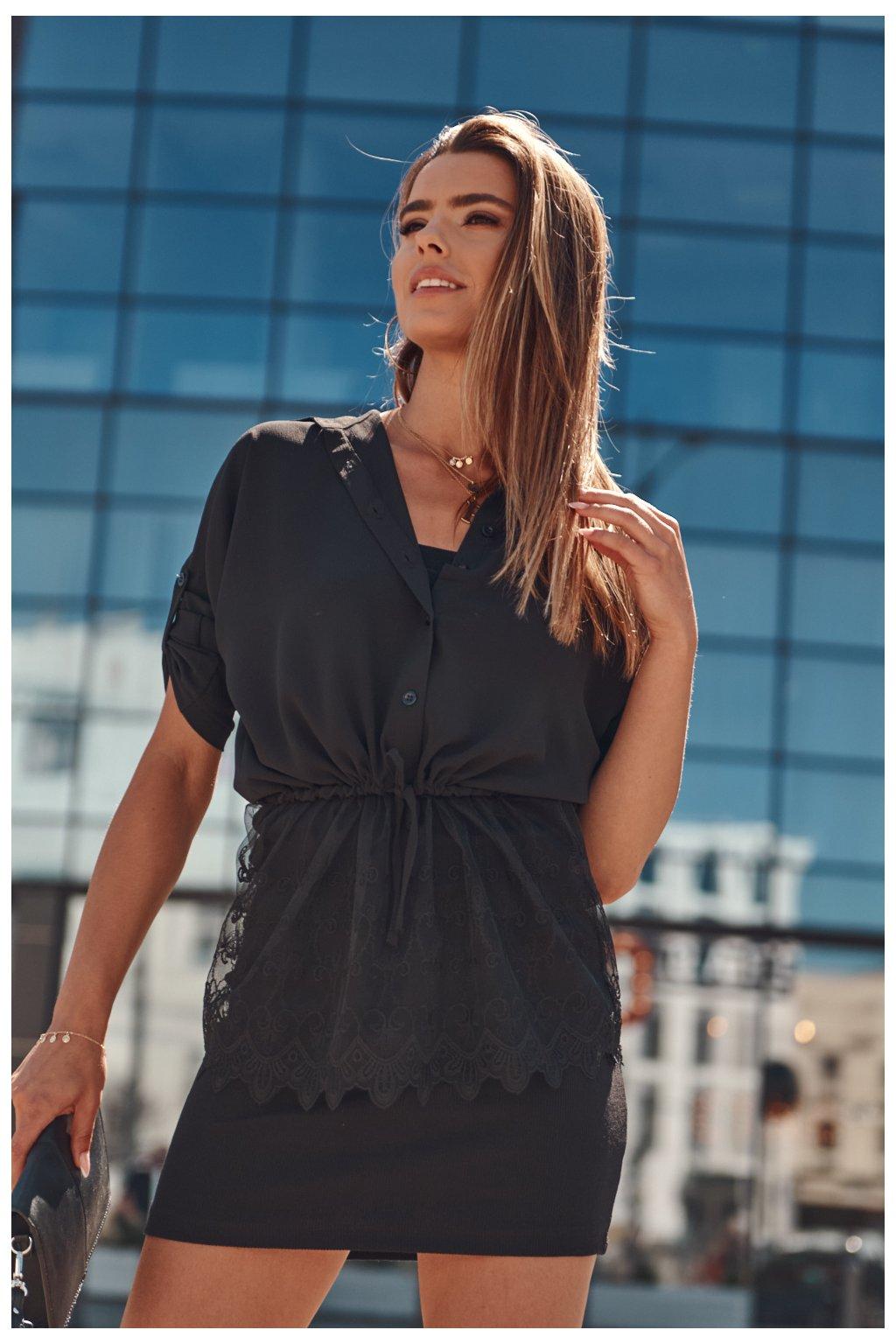 Černá košile Fasardi