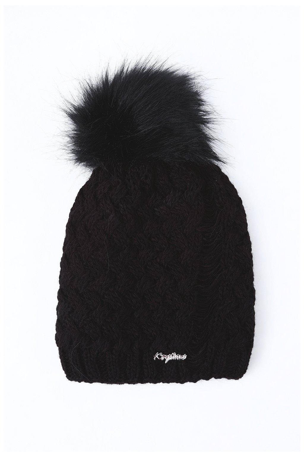 Černá zimní čepice Fasardi