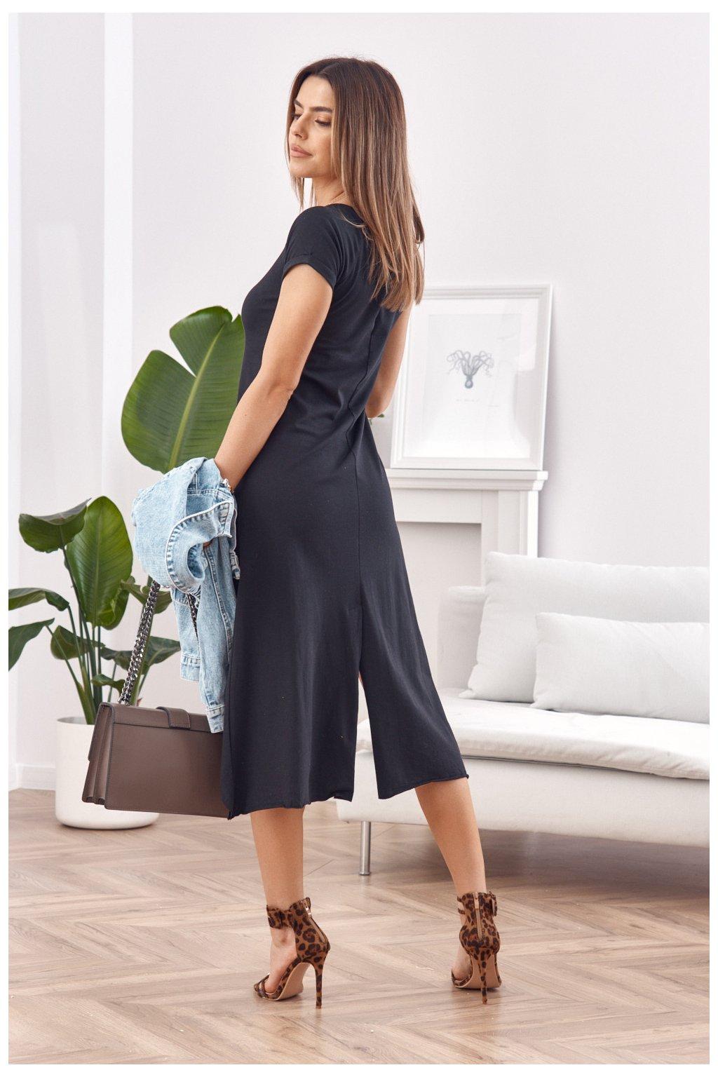 Černé volné Fasardi šaty