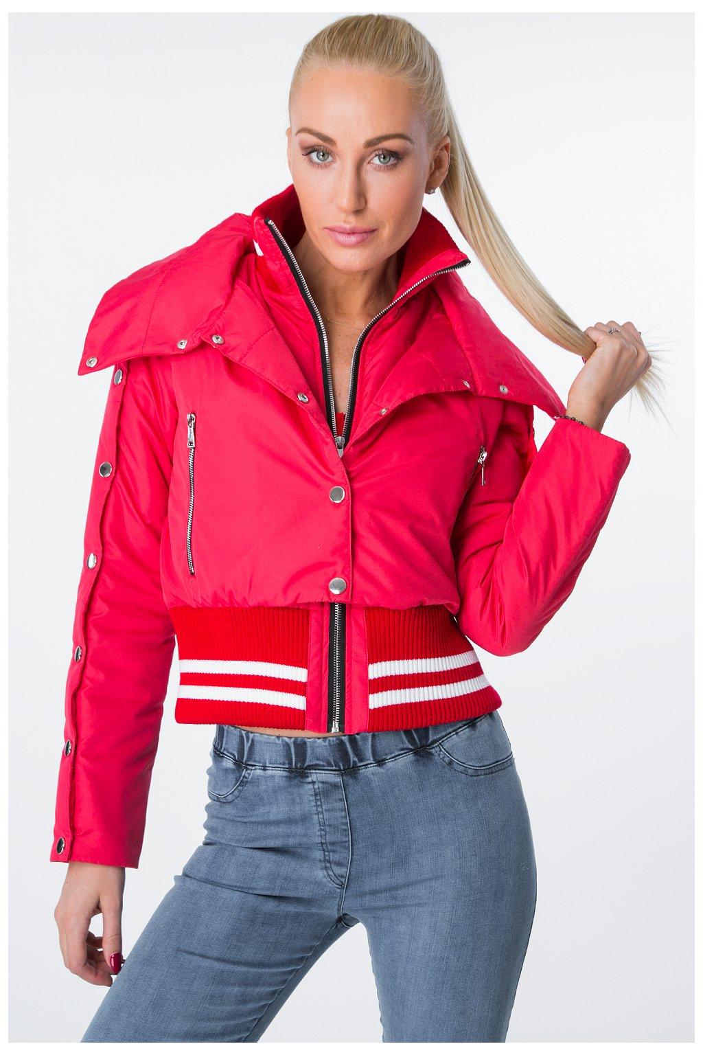 Červená krátká bunda Fasardi