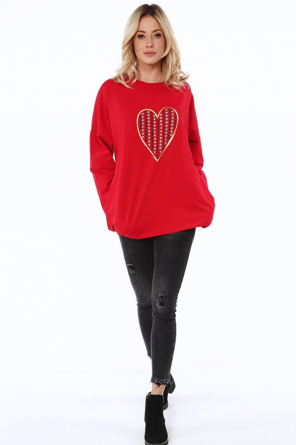 Červená tunika Fasardi se srdcem