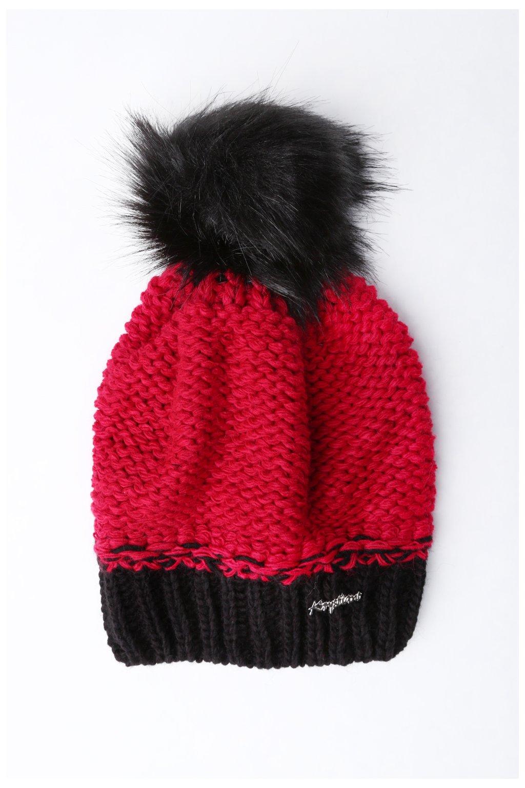 Červená zimní čepice Fasardi