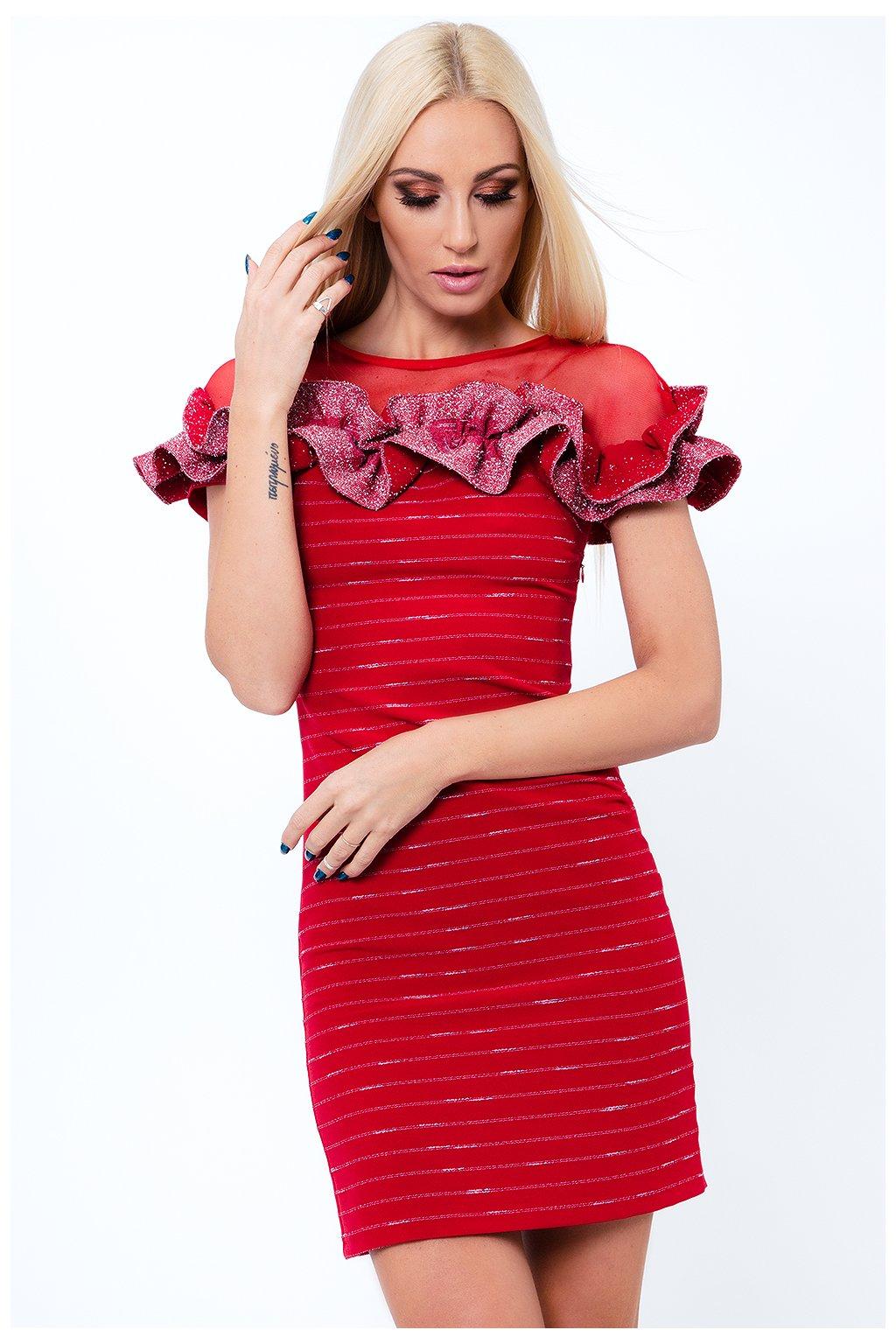 Dámské šaty Fasardi s volánkem