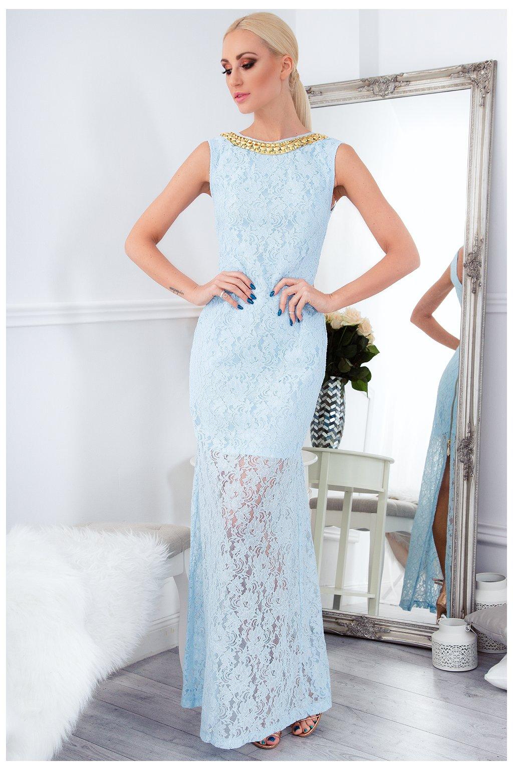 Dlouhé šaty s krajkou Fasardi