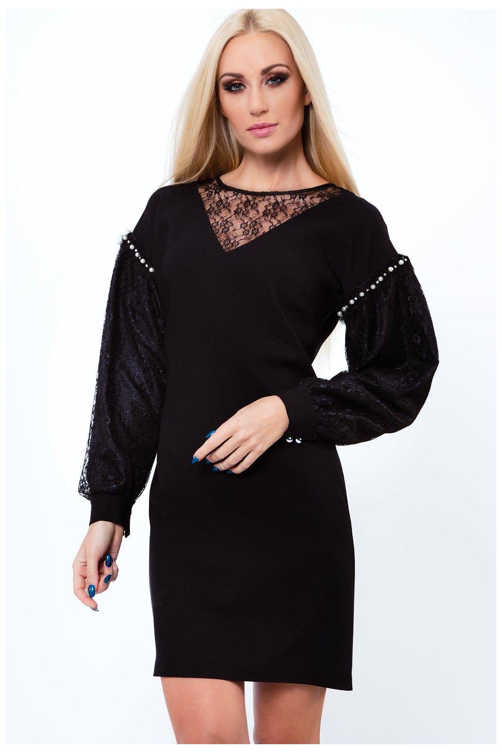 Elegantní dámské šaty Fasardi s rukávy