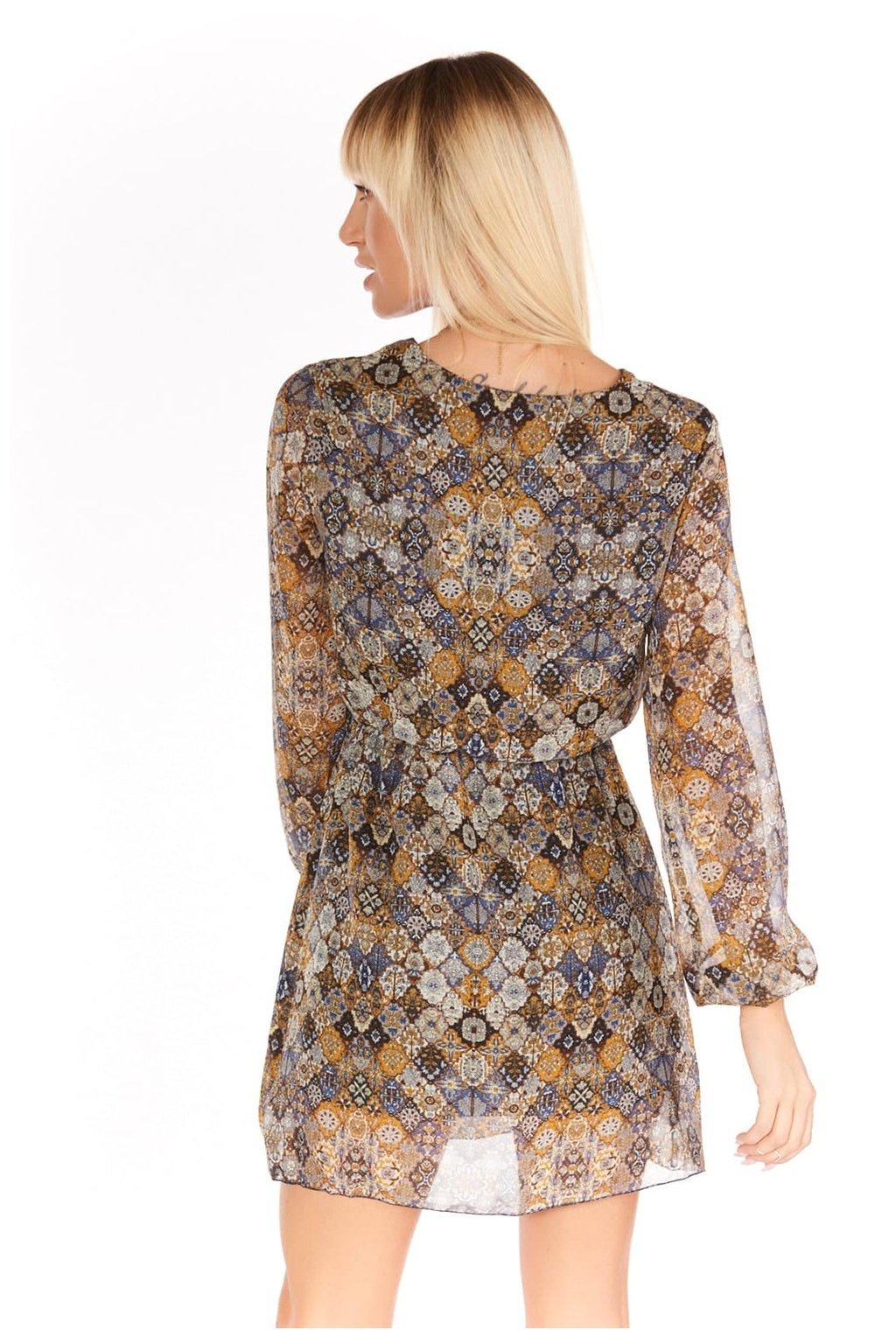 Jarní mini šaty Fasardi barevné se vzorem