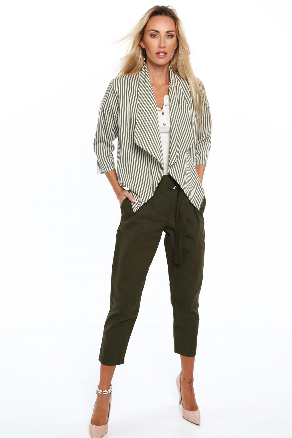 Khaki kalhoty Fasardi s páskem