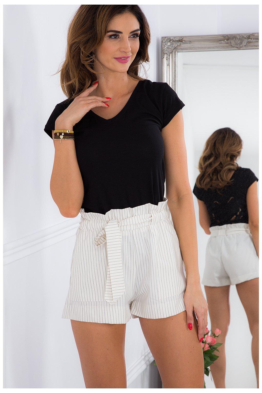 Krémové elegantní šortky Fasardi
