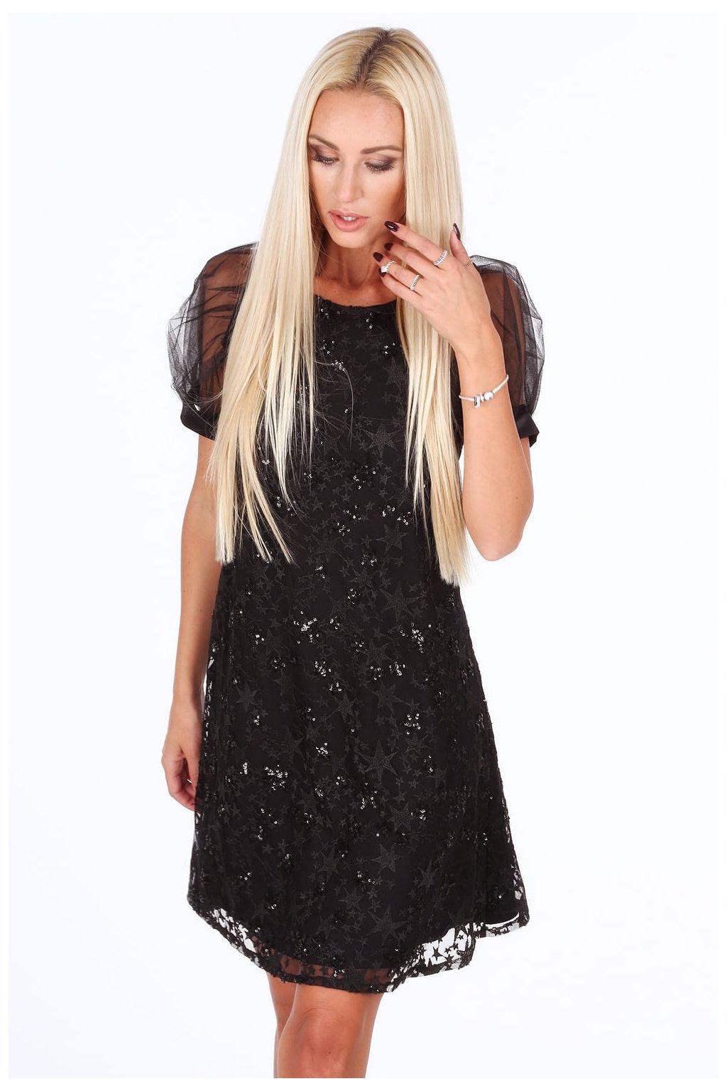 Šaty Fasardi s černým vzorem