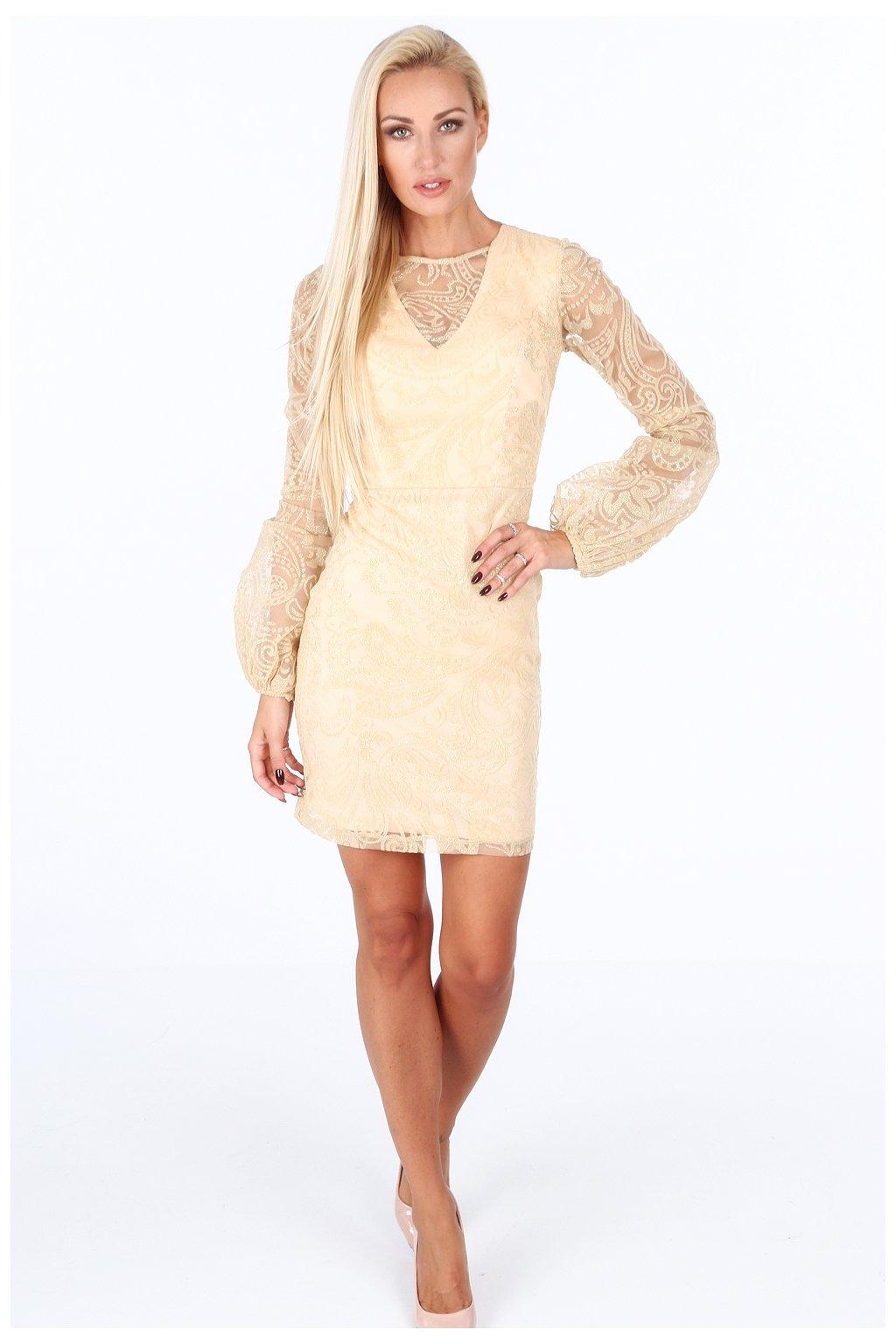 Zlaté šaty Fasardi