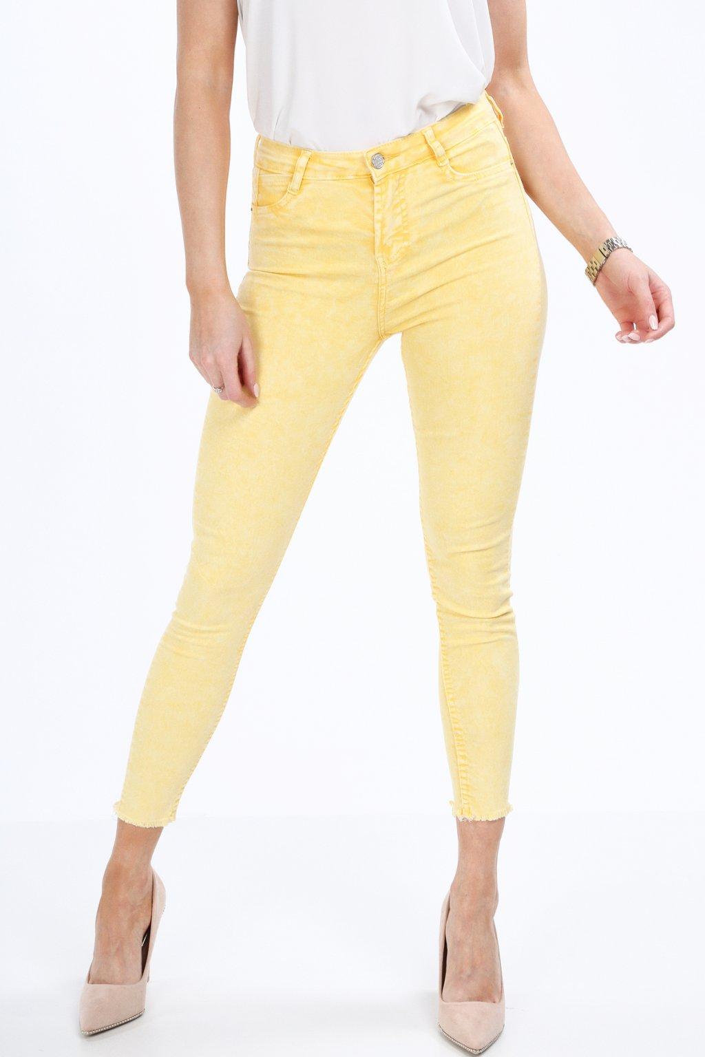Žluté džínové kalhoty Fasardi