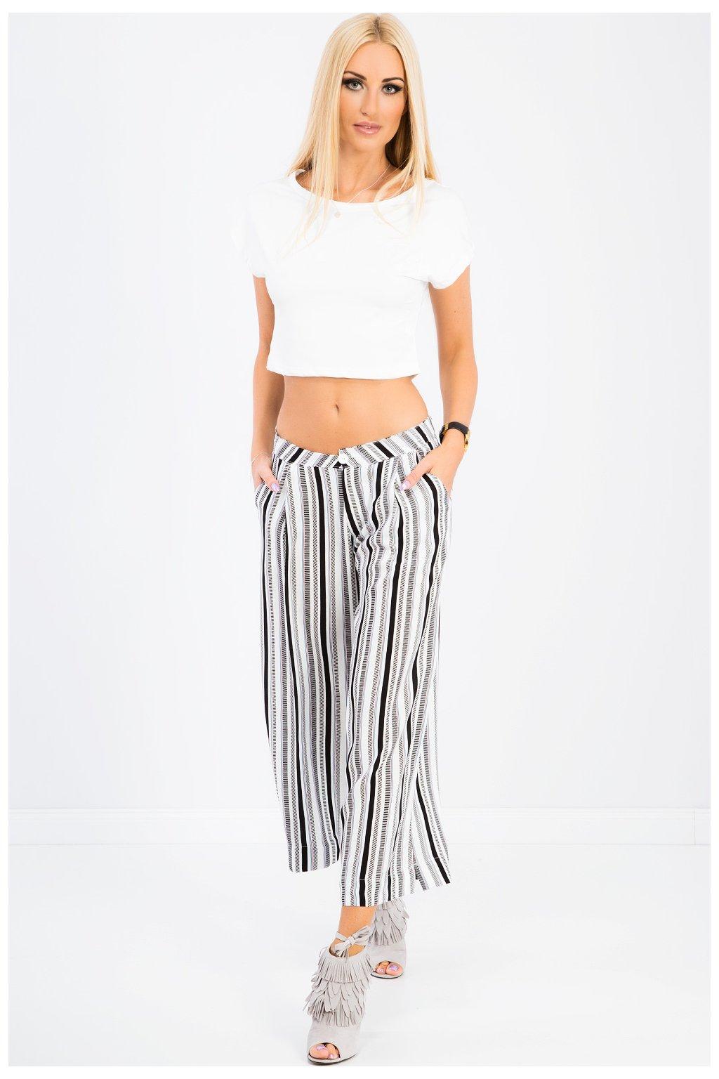 Pruhované volné kalhoty Fasardi