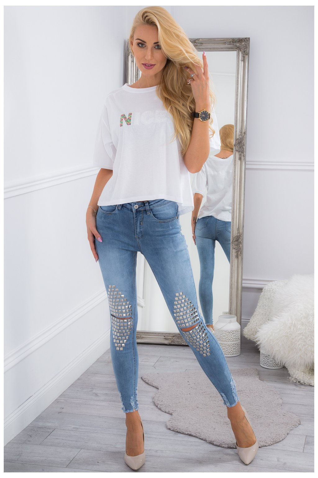 Džínové kalhoty Fasardi