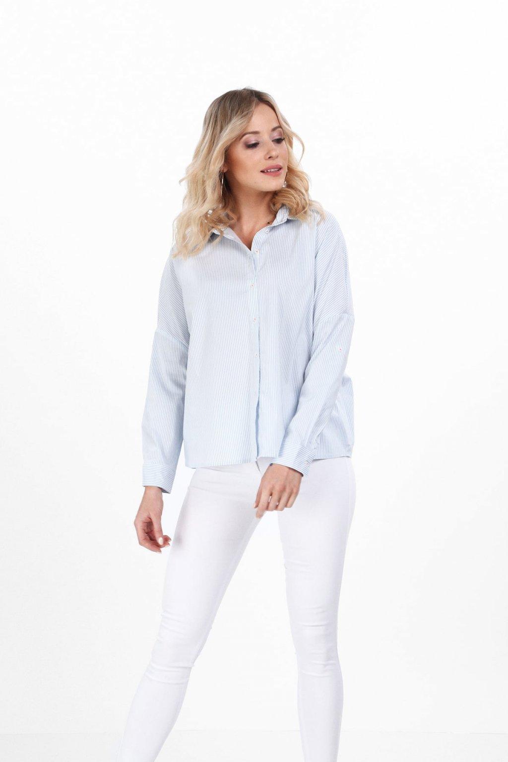 Volná košile Fasardi s modrými pruhy