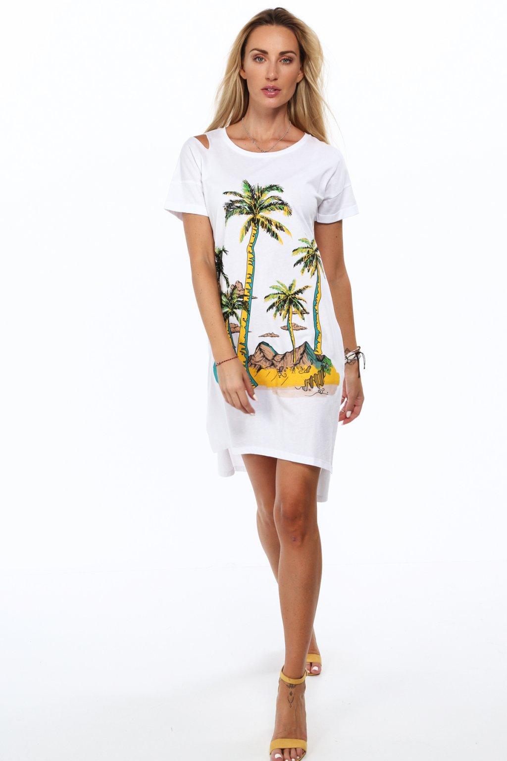 Bílé bavlněné šaty Fasardi