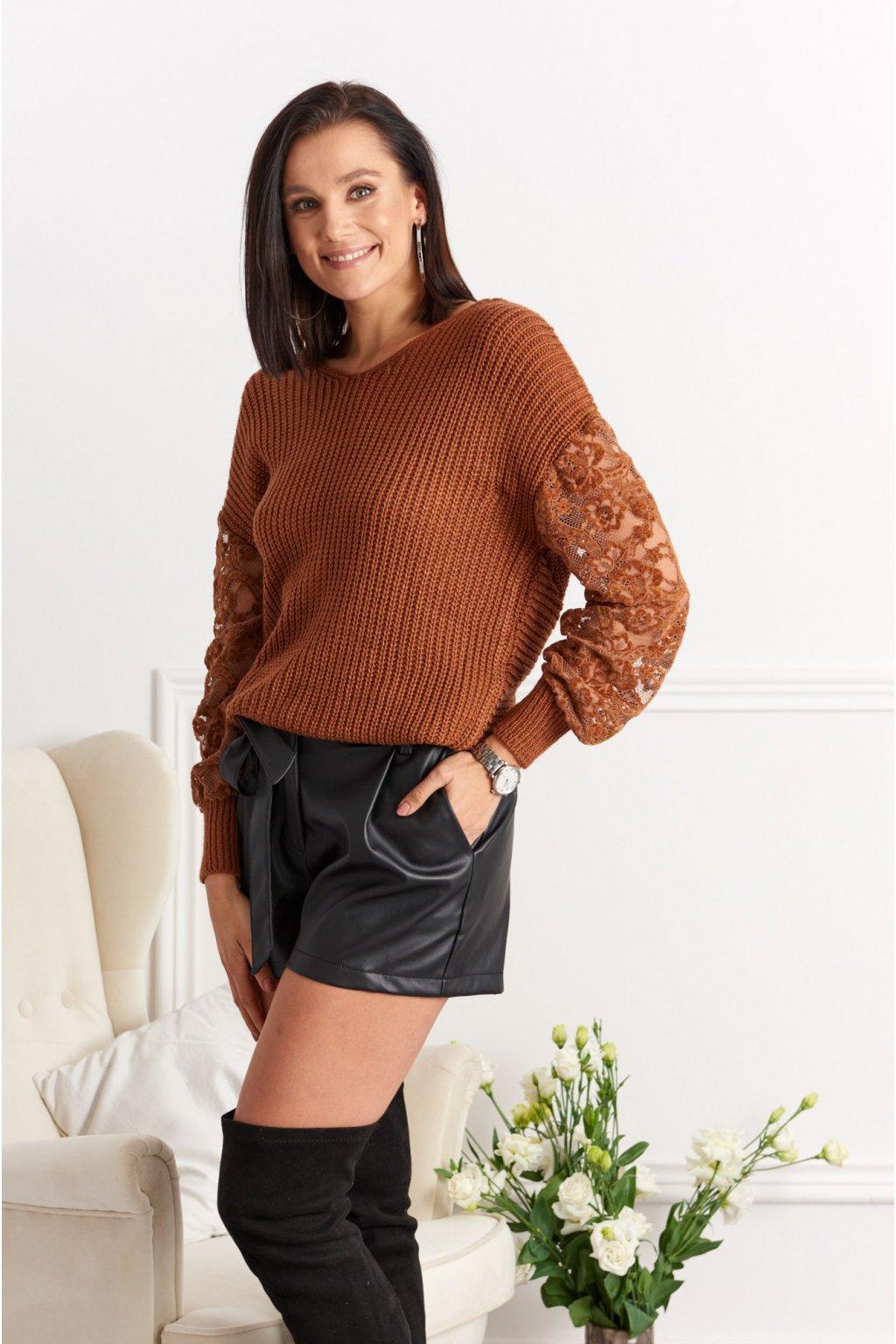Dámský svetr s hlubokým výstřihem na zádech Fasardi