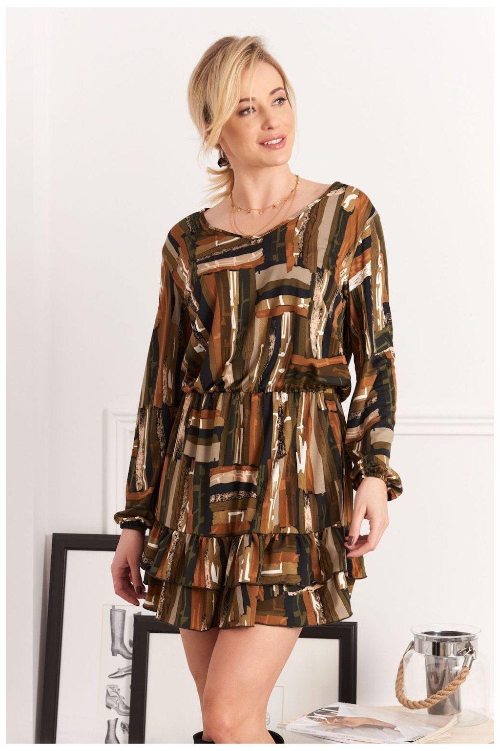 Elegantní šaty s volánkem Fasardi