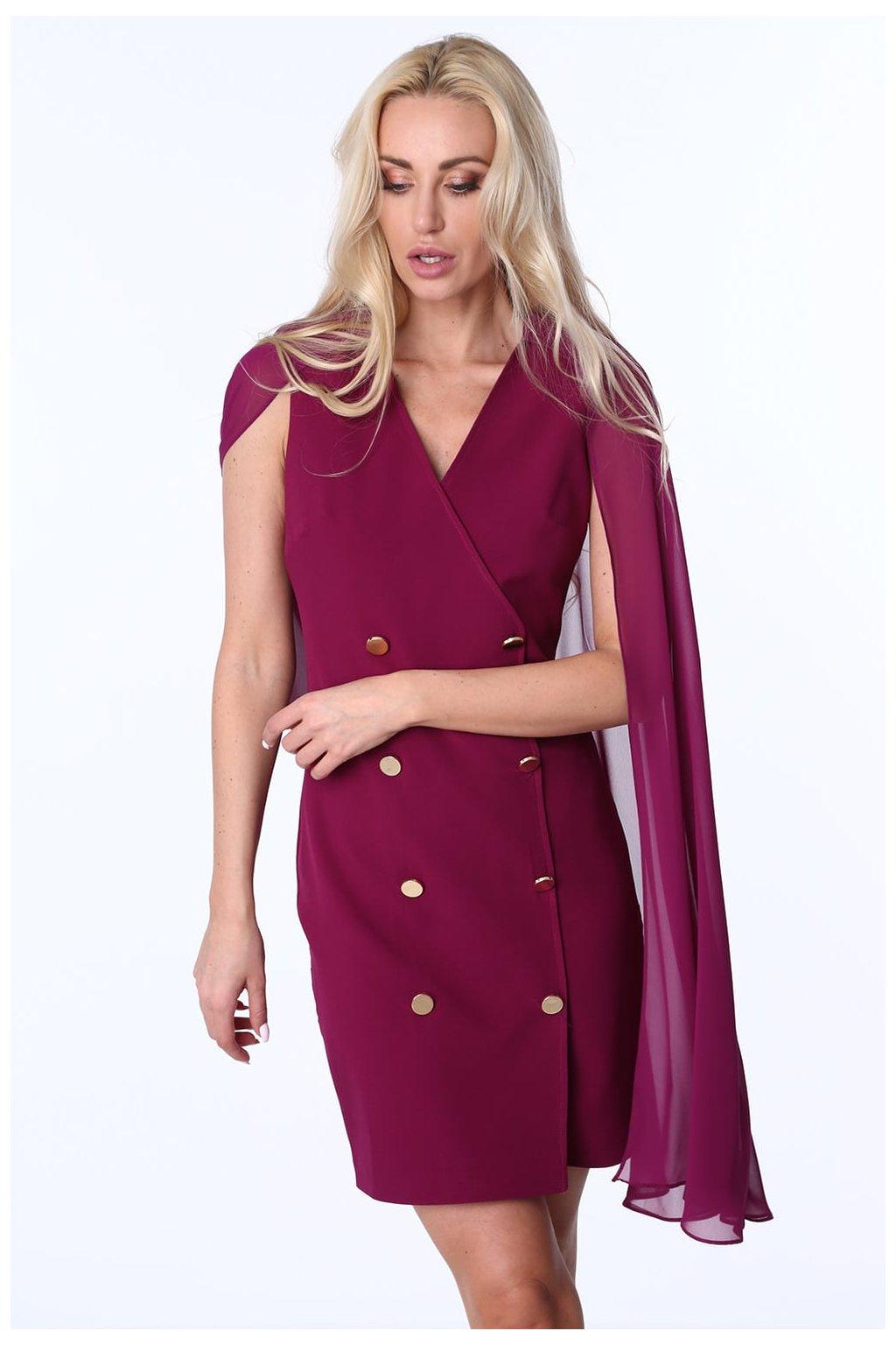 Šifonové šaty Fasardi fialové