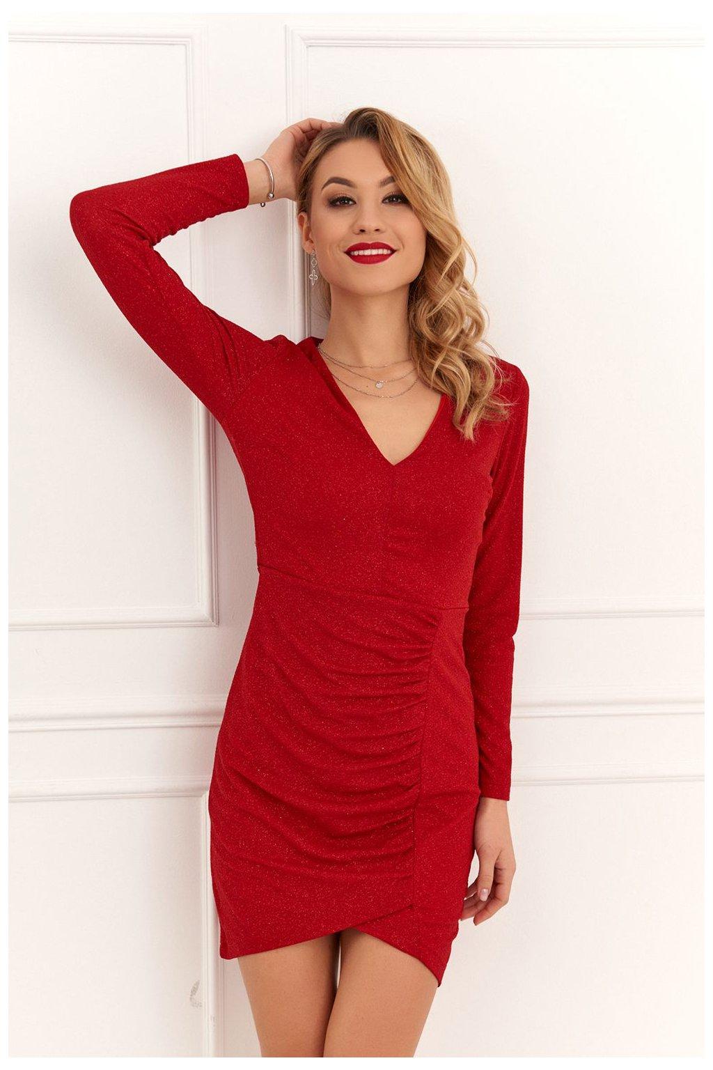 Přiléhavé červené šaty Fasardi
