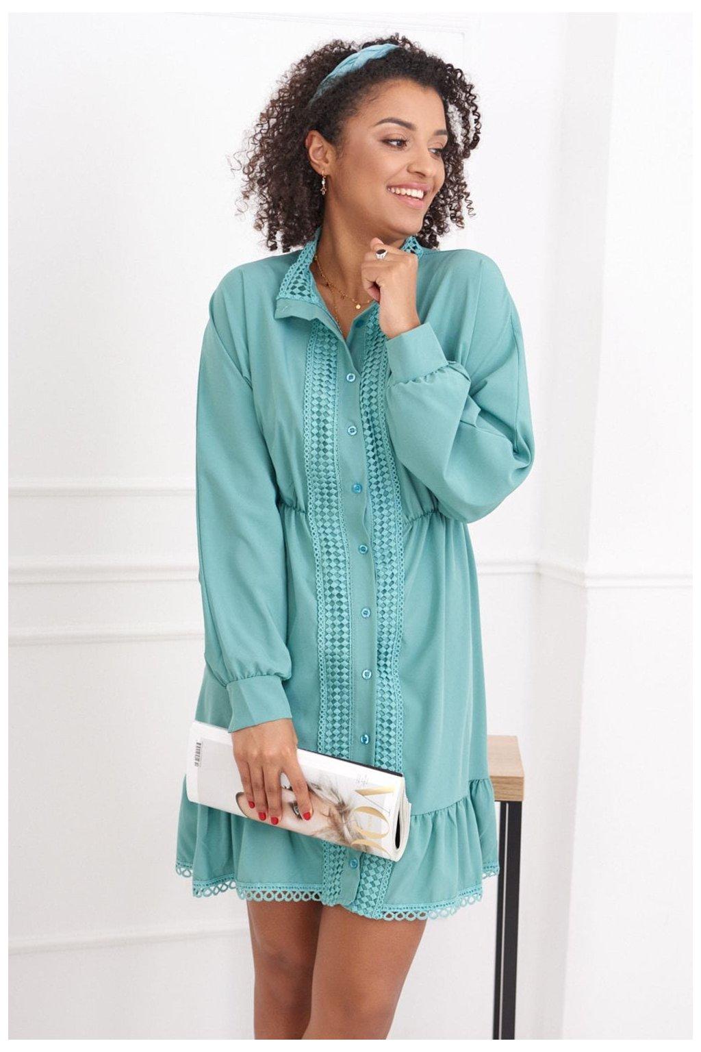 Dámské zelené šaty Fasardi