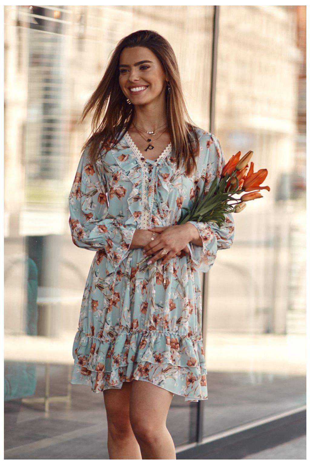 Dámské květované šaty Fasardi