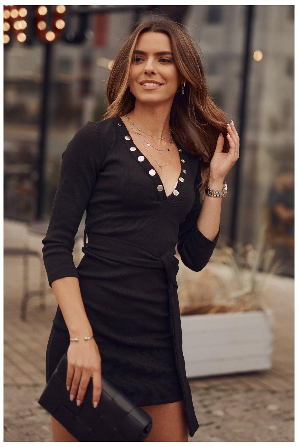 Elegantní černé šaty Fasardi