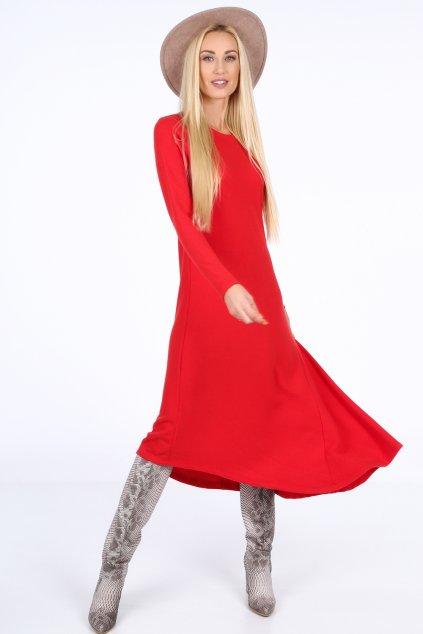 Asymetrické jarní šaty Fasardi červené