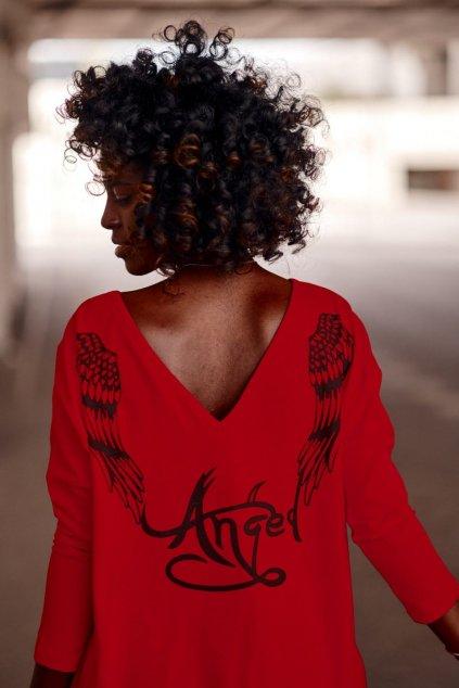 """""""Andělské"""" šaty červené Fasardi"""