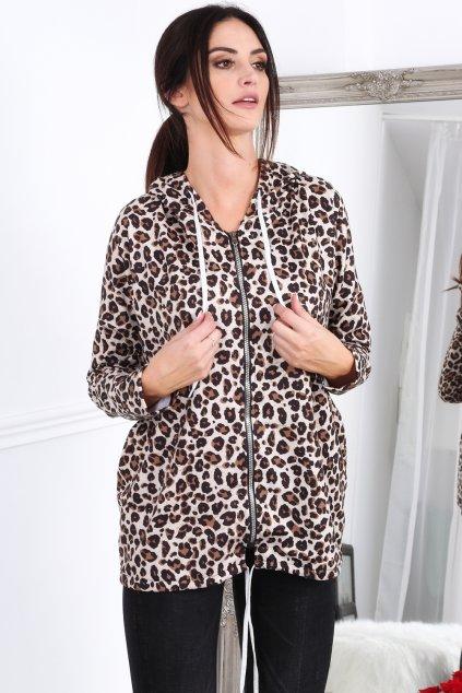 Leopardí bunda Fasardi béžová