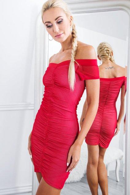 Lesklé šaty Fasardi červené