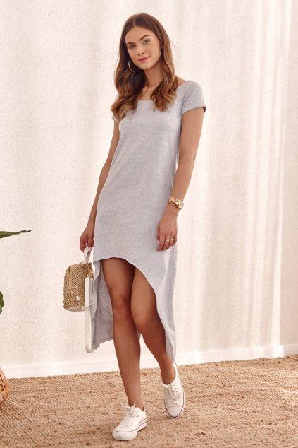 Šedé volné Fasardi šaty