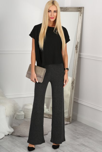 Tmavě šedé kalhoty Fasardi