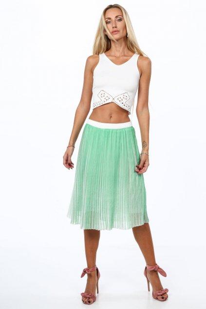 Plisovaná zelená sukně Fasardi