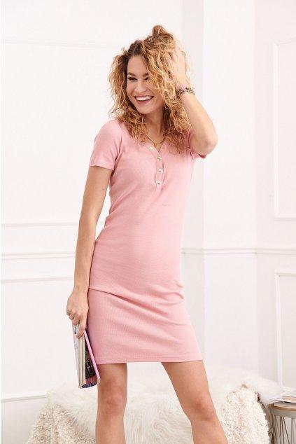 Pudrové šaty Fasardi