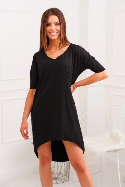 Oversize černé šaty Fasardi