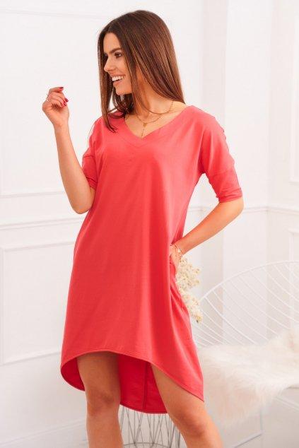Oversize korálové šaty Fasardi