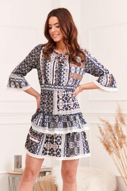 Dámské vzorované šaty Fasardi