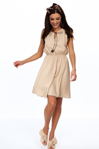 Béžové šaty Fasardi