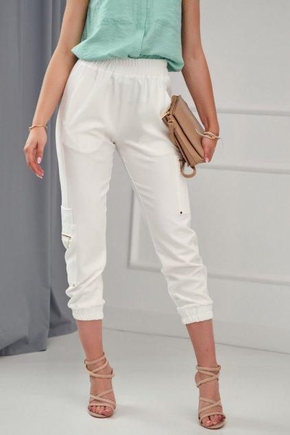 Krémové kalhoty Fasardi s elastickým pásem