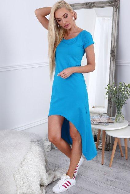 Modré volné šaty Fasardi